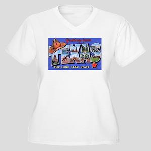 Texas Greetings Women's Plus Size V-Neck T-Shirt