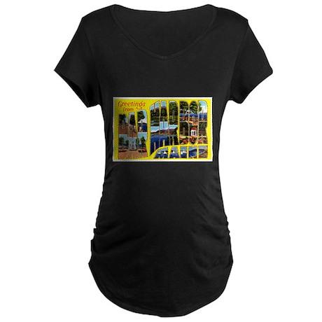 Bar Harbor Maine Maternity Dark T-Shirt