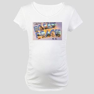 Folly Beach South Carolina Maternity T-Shirt
