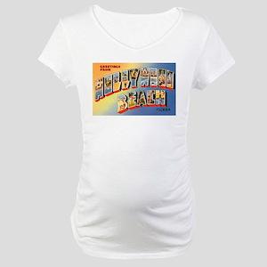 Hollywood Beach Florida Greet Maternity T-Shirt