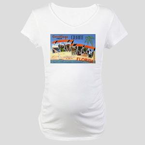 Key West Florida Greetings Maternity T-Shirt