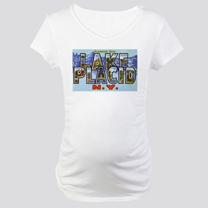 Lake Placid New York Maternity T-Shirt