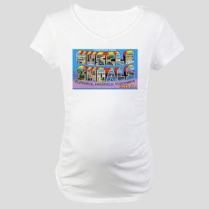 Muscle Shoals Alabama Greetin Maternity T-Shirt