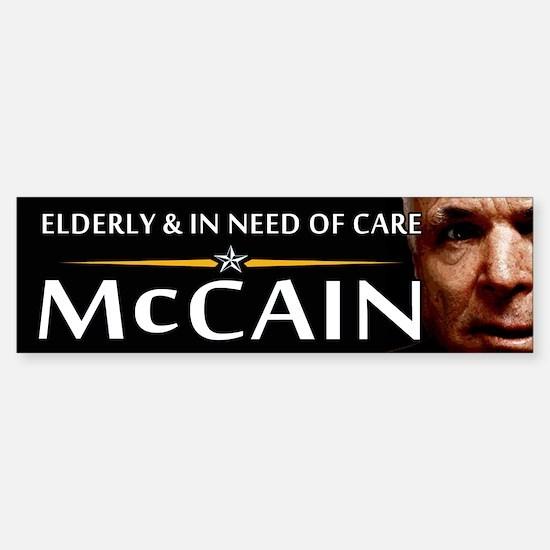 Elderly & in Need of Care Bumper Bumper Bumper Sticker