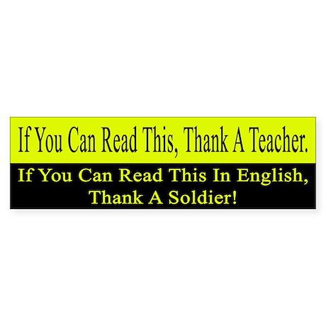 If you can read this, thank a teacher Sticker (Bum