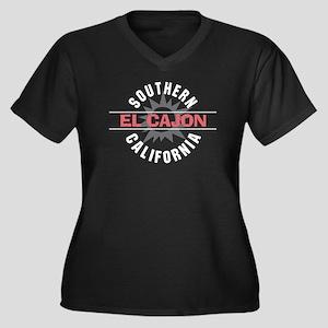 El Cajon California Women's Plus Size V-Neck Dark