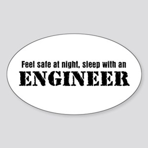 Feel Safe with an Engineer Oval Sticker