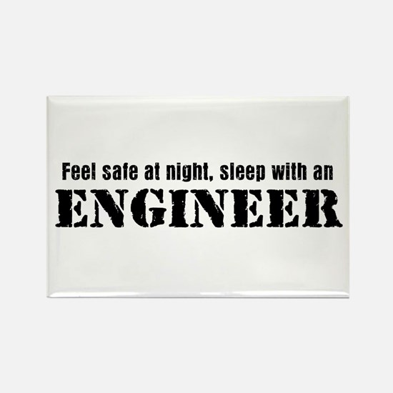 Feel Safe with an Engineer Rectangle Magnet