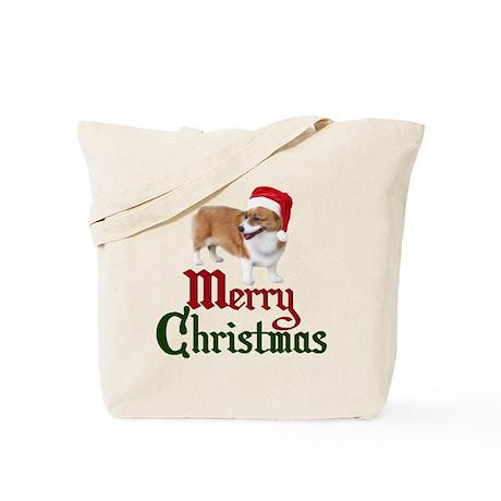 Christmas Corgi Tote Bag