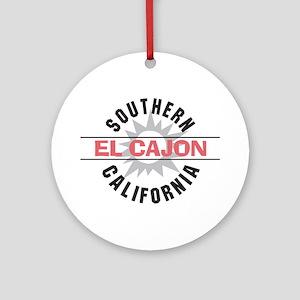 El Cajon California Ornament (Round)