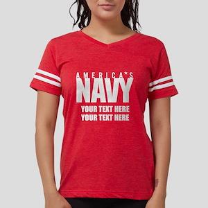America's Navy Emblem Womens Football Shirt