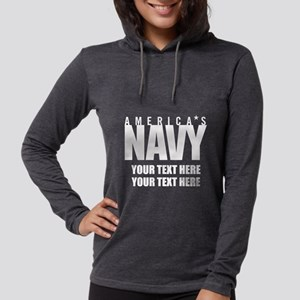 America's Navy Emblem Womens Hooded Shirt