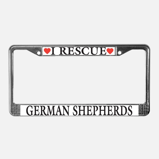 GSD Rescue License Plate Frame