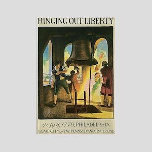 Liberty Bell 1776 Rectangle Magnet