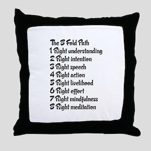 Buddhist 8 fold path Throw Pillow