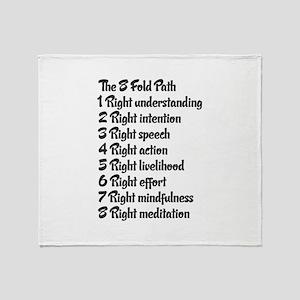 Buddhist 8 fold path Throw Blanket