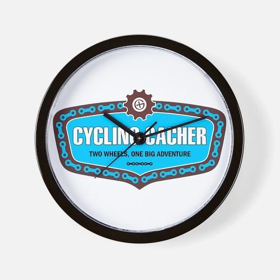 Cycling Cacher Wall Clock