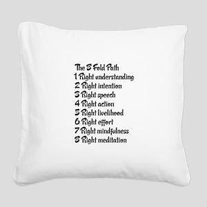 Buddhist 8 fold path Square Canvas Pillow