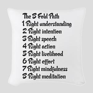 Buddhist 8 fold path Woven Throw Pillow