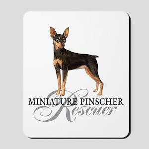 Min Pin Rescue Mousepad
