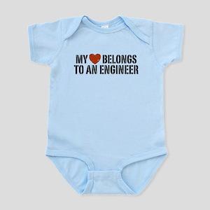 My Heart Belongs to an Engineer Infant Bodysuit