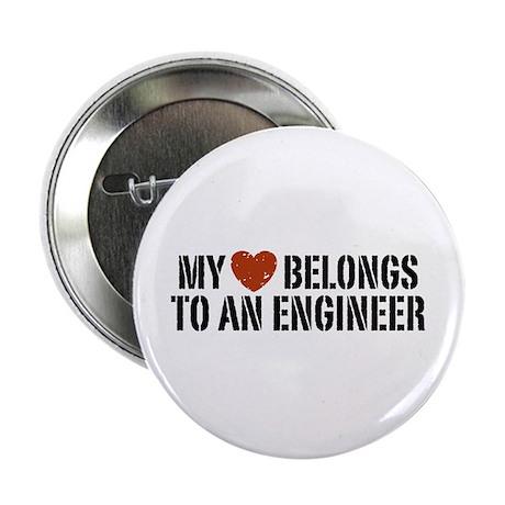 """My Heart Belongs to an Engineer 2.25"""" Button"""