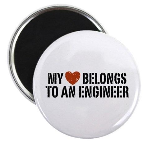 My Heart Belongs to an Engineer Magnet