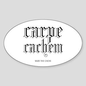 Carpe Cachem Oval Sticker