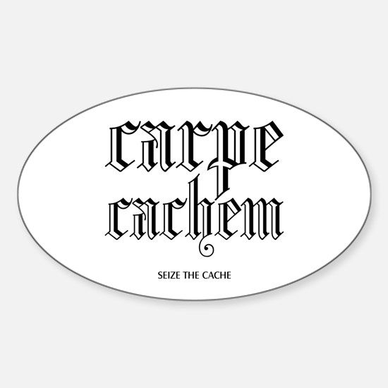 Carpe Cachem Oval Decal