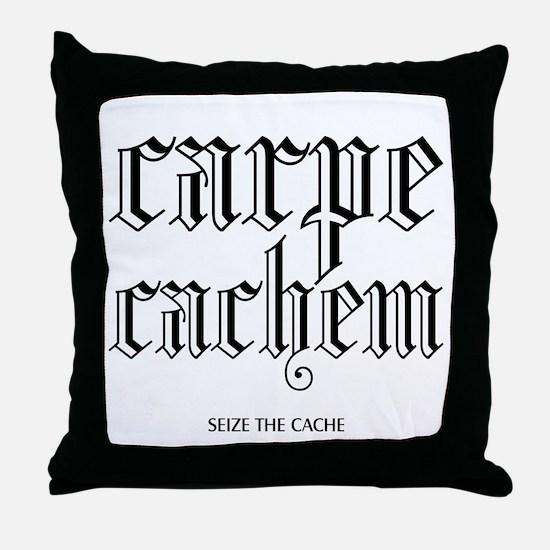 Carpe Cachem Throw Pillow