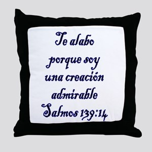 Salmos 139:14 Throw Pillow