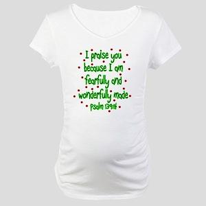 Psalm 139:14 Maternity T-Shirt