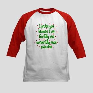 Psalm 139:14 Kids Baseball Jersey