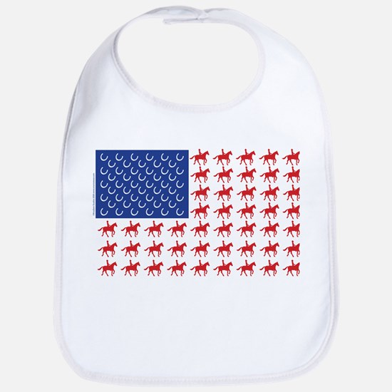Original Patriotic Horse Flag Bib