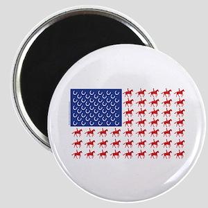 Original Patriotic Horse Flag Magnet