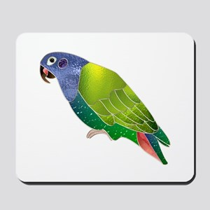 Stained Glass Pionus Parrot Mousepad