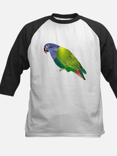 Stained Glass Pionus Parrot Kids Baseball Jersey