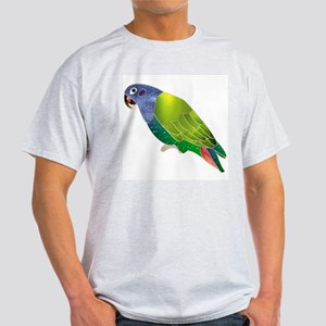 Stained Glass Pionus Parrot Ash Grey T-Shirt