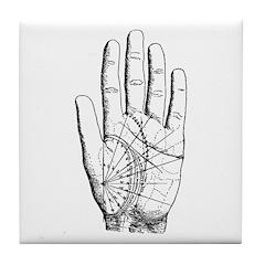 Astrological Palm Map Tile Coaster