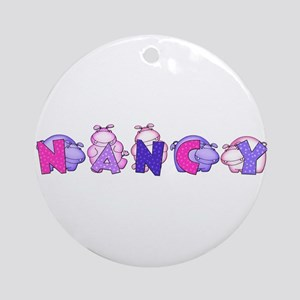 Nancy in Hippos Ornament (Round)