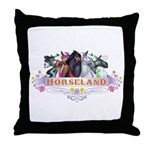 Horseland T Throw Pillow