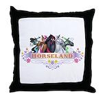 Horseland T Throw Pillow