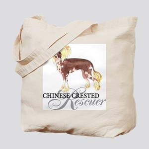 Chinese Crested Rescue Tote Bag