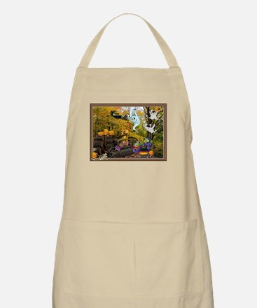 Witches Ghosts Pumpkins BBQ Apron