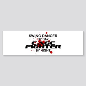 Swing Dancer Cage Fighter by Night Sticker (Bumper