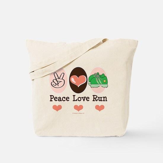 Peace Love Run Runner Tote Bag