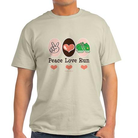 Peace Love Run Runner Light T-Shirt