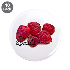 """Berry Special Raspberries 3.5"""" Button (10 pac"""
