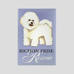 Bichon Frise Rescue Rectangle Magnet