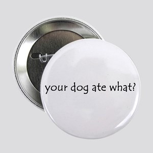 """your dog ate what? 2.25"""" Button (10 pack)"""